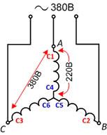 Как подключить трёхфазный электродвигатель в сеть 220в