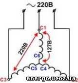 Присоединение выводов электродвигателя звездой и треугольником к сети переменного тока. - ремонт электродвигателей - - справочник ремонт электродвигателей