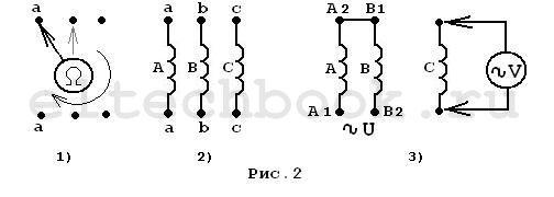 Схема подключения электродвигателя, подключение трехфазного двигателя в однофазную сеть