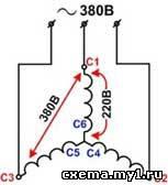 Как подключить трёхфазный электродвигатель в сеть 220в - управление двигателями (питание от однофазной сети) - конструкции для дома и дачи - [каталог статей]