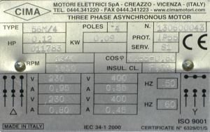 Трехфазные асинхронные электродвигатели cima (италия). москва, санкт-петербург, ростов-на-дону, россия. prst.ru