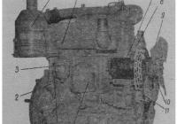 Общий вид двигателя трактора мтз-82 (80)