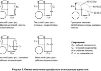Подключение электродвигателя к сети 380 / 220, схемы