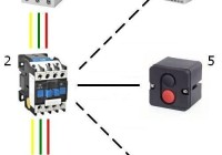 Схема подключения электродвигателя