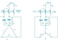 Включение трехфазных электродвигателей в однофазную сеть